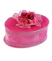 Шкатулка розовая