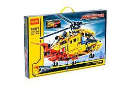 Jisi Bricks 3357 Конструктор Вертолёт Спасателей, 1056 дет. (Аналог LEGO)