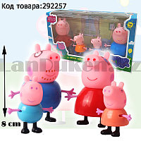"Набор фигурок мини из серии Свинка Пеппа ""Семья: папа Свин, мама Свин, маленький Джордж и свинка Пеппа"" 4 шт"
