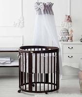Кроватка детская Bambini овальная с маятником