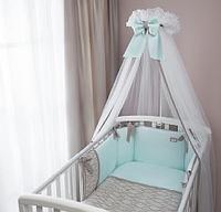 Комплект в кроватку Perina Elfetto 6 предметов Мятный, фото 1