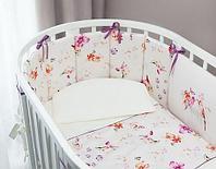 Комплект в кроватку Perina Акварель Oval 6 предметов, фото 1