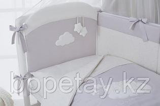 Комплект в кроватку Perina Бамбино Oval 6 предметов Грей