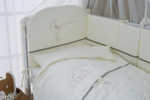 Постельное белье Perina Le Petit Bebe Молочно-оливковый 4 предмета