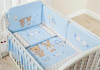 Постельное белье Perina Венеция Лапушки голубые 4 предмета, фото 1