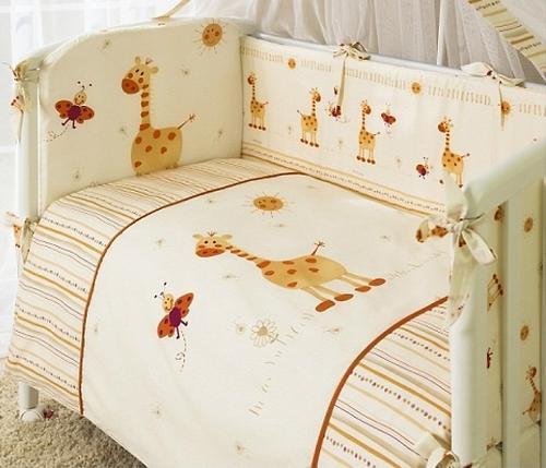 Постельное белье Perina Кроха Жирафики, 4 предмета
