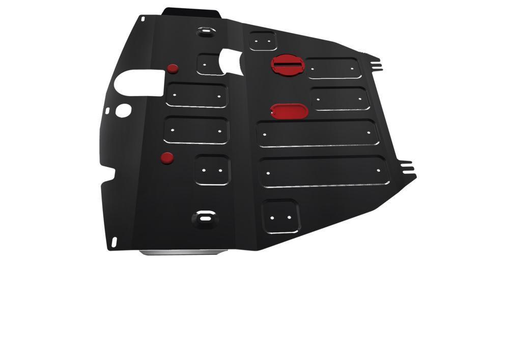 Защита картера и КПП Chevrolet Captiva (2012-2018) со штатной поперечной балкой