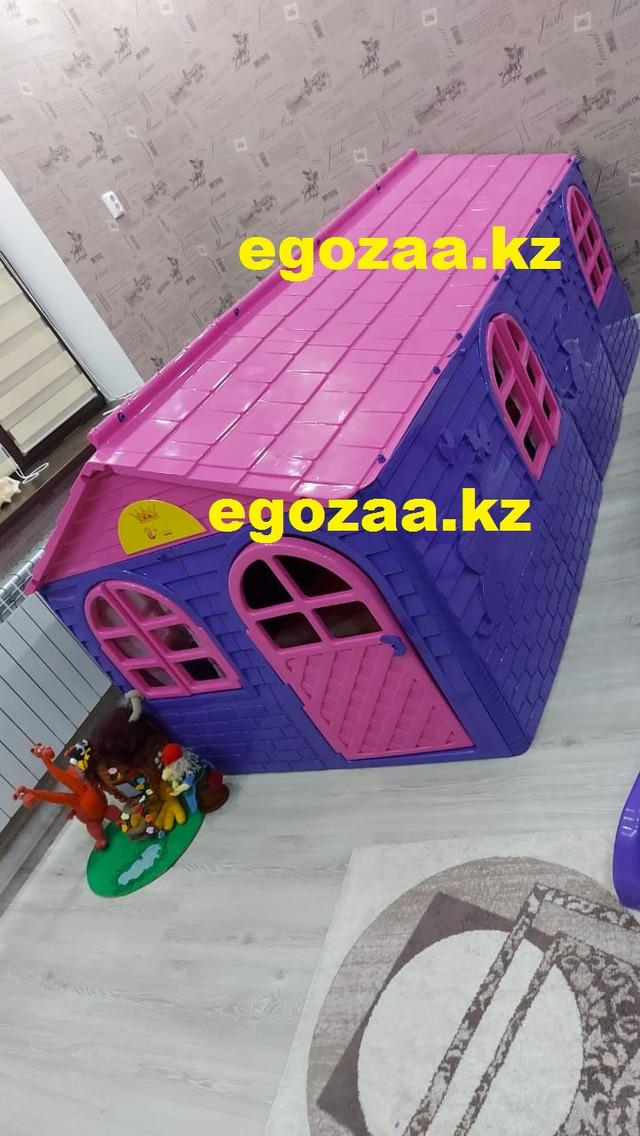 Домик игровой Doloni  02550/20 со шторками розовый