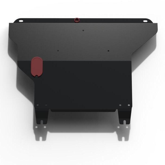 Защита картера + КПП + крепеж, RIVAL, Сталь, Chery Amulet 2004-2010,V - 1.6/Seat Cordoba 1991-1998,V
