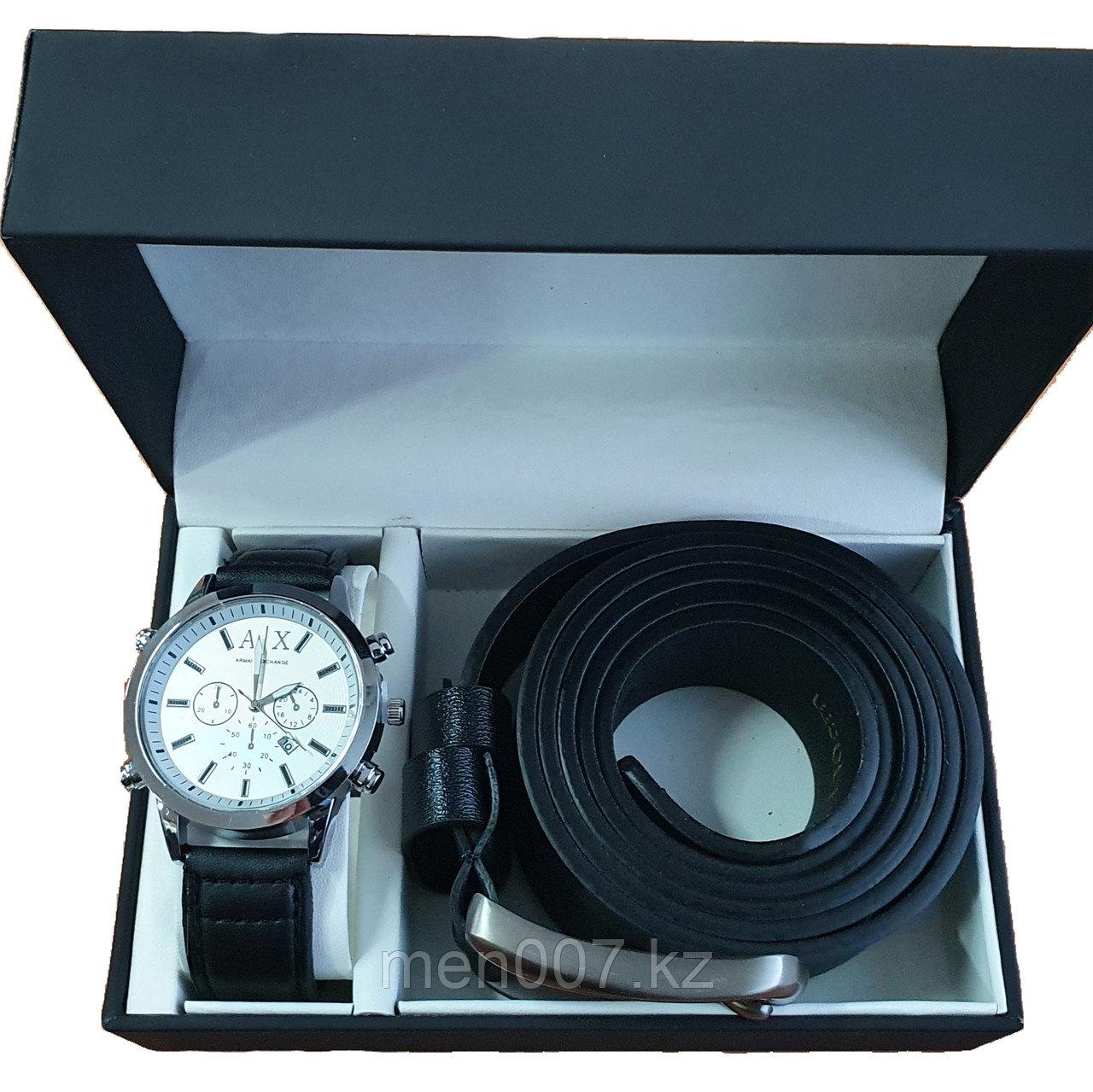 Набор часы + ремень (Armani Exchange)