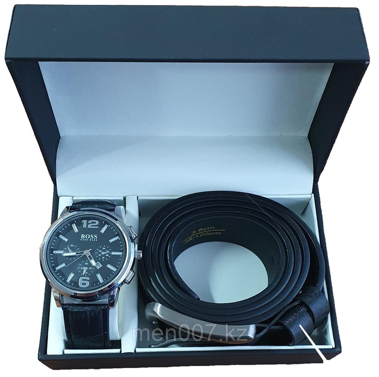 Набор часы + ремень (Hugo Boss)