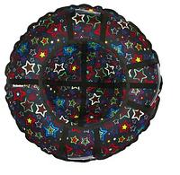 Тюбинг Hubster Люкс Pro Звезды черные 110см.