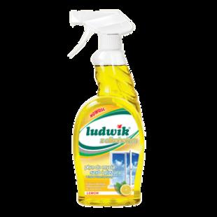 "Средство для мытья стекол и глазури лимон ""Ludwik"", 750 мл, фото 2"