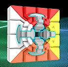 Кубик Рубика 4x4x4 Moyu Meilong в цветном пластике, фото 3