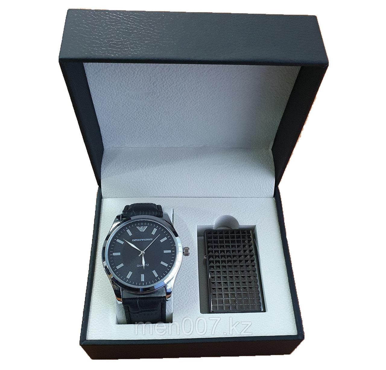 Набор часы + зажигалка (Emporio Armani)