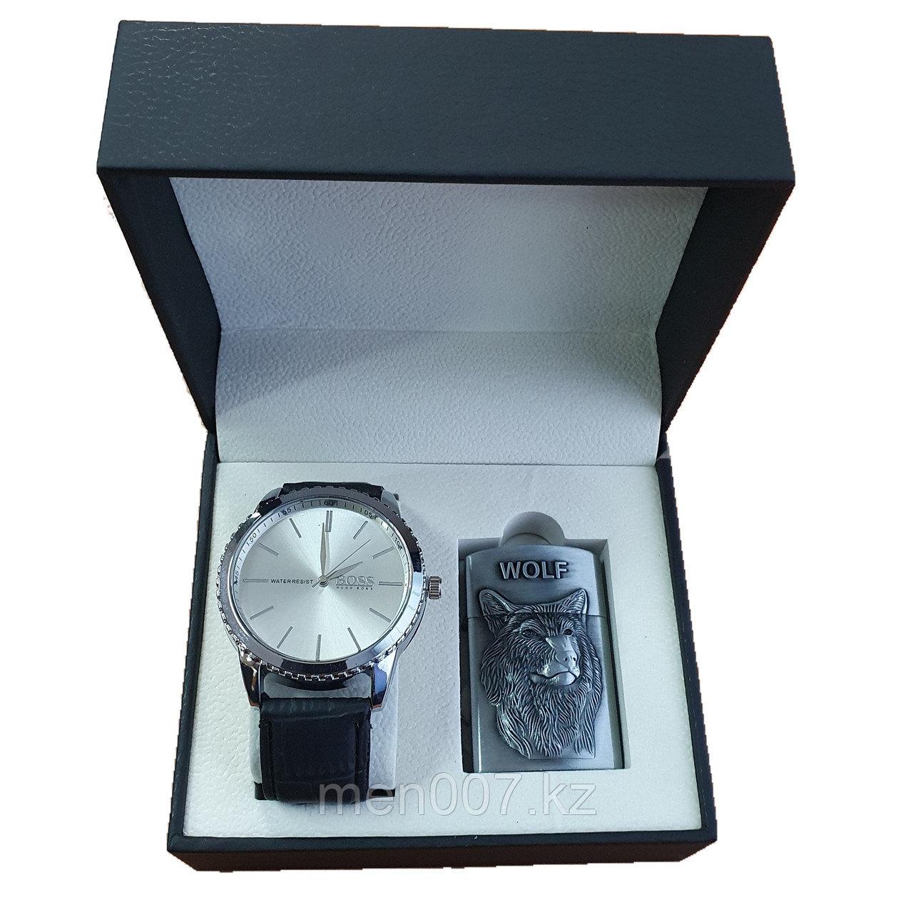 Набор часы + зажигалка (Hugo Boss)