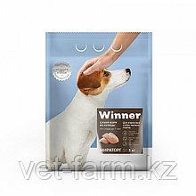 Сухой корм для собак Winner для взрослых собак мелких пород из курицы 1 кг весовой