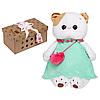 Котик Ли-Ли в мятном платье с розовой сумочкой 27-005