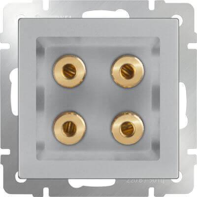 Акустическая розетка Werkel х4 серебряный WL06-AUDIOx4 4690389059292