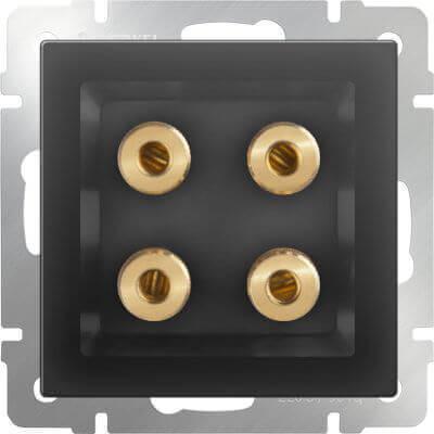 Акустическая розетка Werkel х4 черный матовый WL08-AUDIOx4 4690389063725