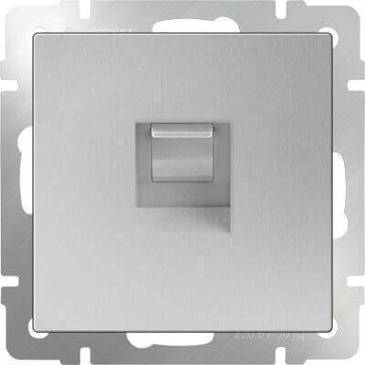 Розетка Werkel Ethernet RJ-45 серебряный WL06-RJ-45 4690389053931