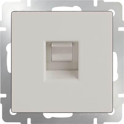 Розетка Werkel Ethernet RJ-45 слоновая кость WL03-RJ-45-ivory 4690389046261