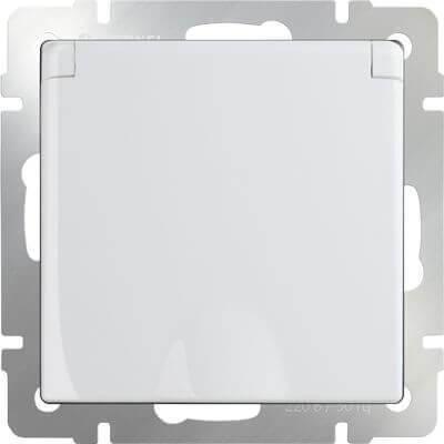 Розетка Werkel с заземлением с защитной крышкой и шторками WL01-SKGSC-01-IP44 4690389045639
