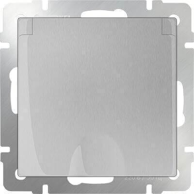 Розетка Werkel с заземлением с защитной крышкой и шторками WL06-SKGSC-01-IP44 4690389053917