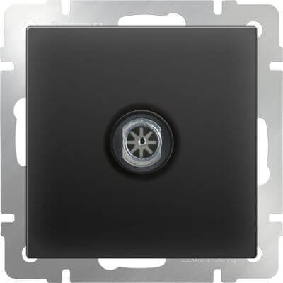 ТВ-розетка Werkel оконечная черный матовый WL08-TV 4690389054273