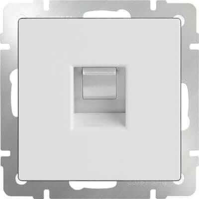 Телефонная розетка Werkel RJ-11 белый WL01-RJ-11 4690389045646