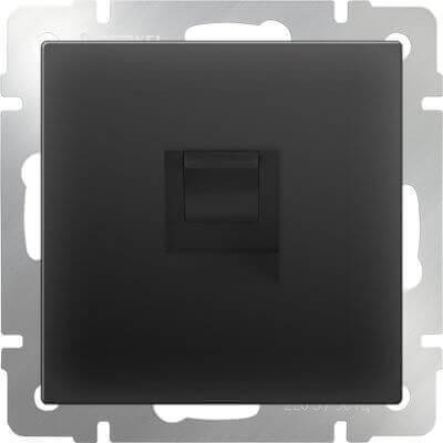 Телефонная розетка Werkel RJ-11 черный матовый WL08-RJ-11 4690389054242