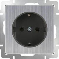Розетка Werkel с заземлением глянцевый никель WL02-SKG-01-IP20 4690389075803