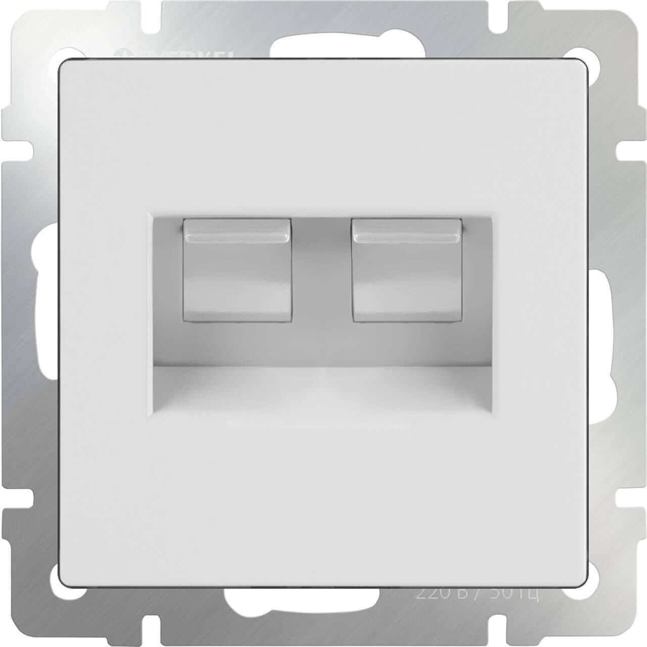 Розетка Werkel двойная Ethernet RJ-45 белая WL01-RJ45+RJ45 4690389073526