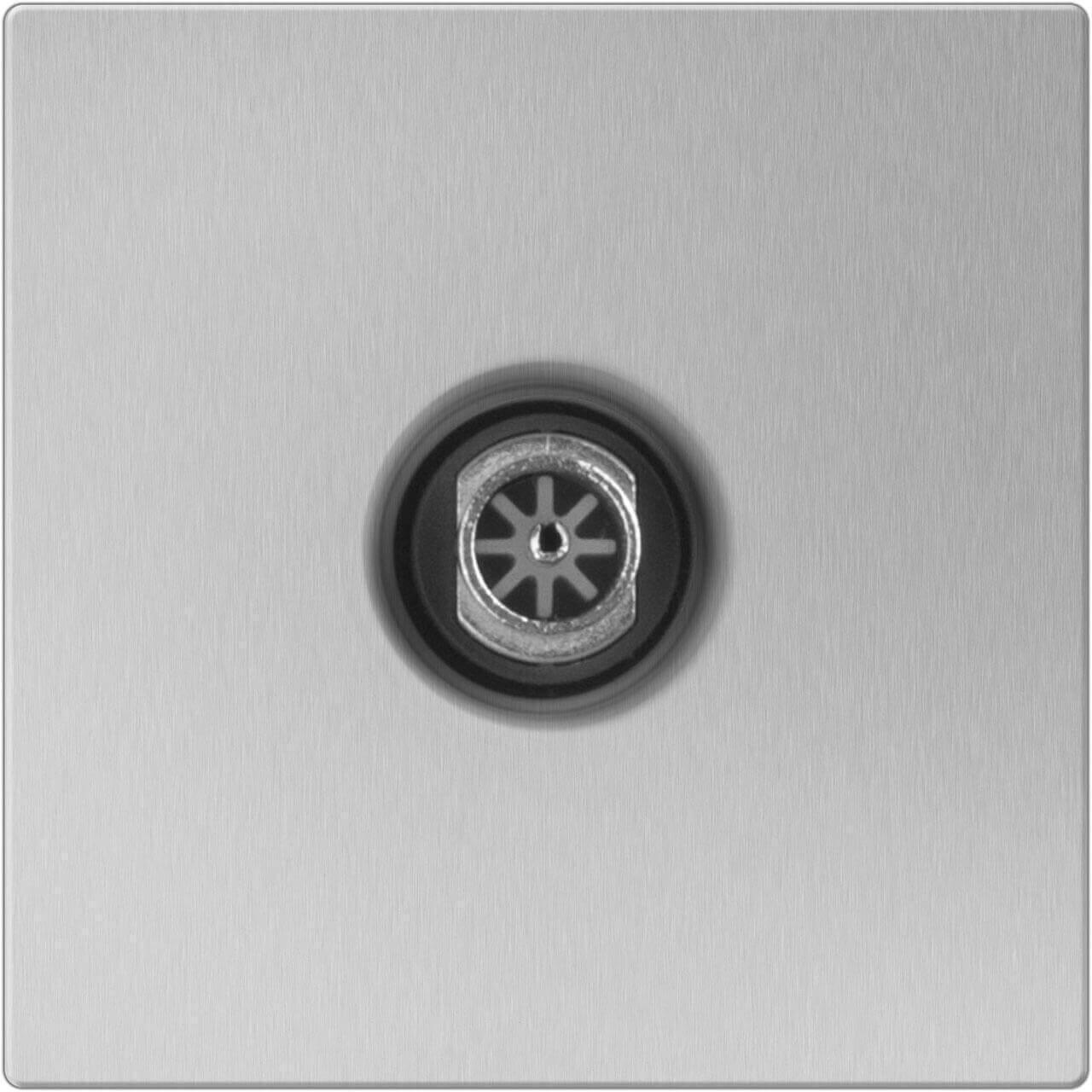 ТВ-розетка Werkel проходная серебряный WL06-TV-2W 4690389073496