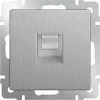 Розетка Werkel Ethernet RJ-45 серебряная рифленая WL09-RJ-45 4690389085062