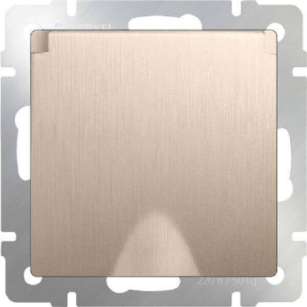 Розетка Werkel с заземлением с защитной крышкой и шторками WL10-SKGSC-01-IP44 4690389085260