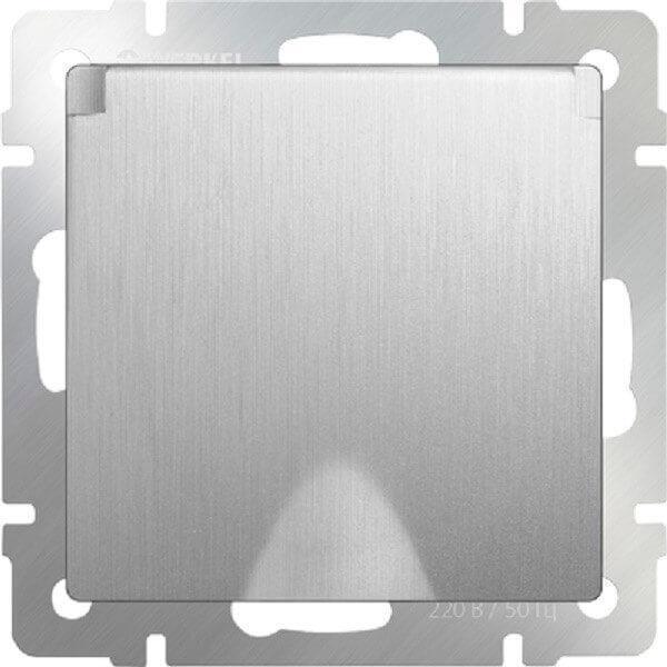 Розетка Werkel с заземлением с защитной крышкой и шторками WL09-SKGSC-01-IP44 4690389085093
