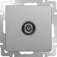 ТВ-розетка Werkel оконечная серебряная рифленая WL09-TV 4690389085185