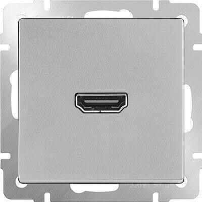 Розетка Werkel HDMI серебряная WL06-60-11 4690389097461