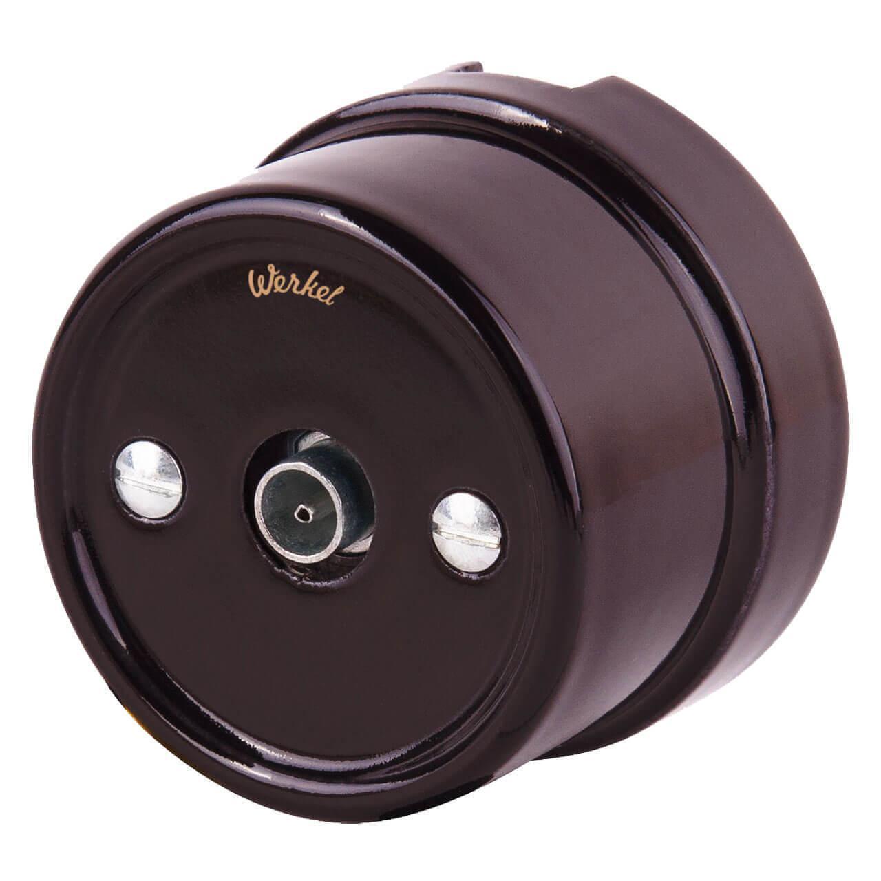 ТВ розетка Werkel Retro коричневая WL18-02-05 4690389100734