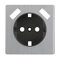 Лицевая панель Werkel розетки USB cеребряный рифленый WL09-USB-CP 4690389100338