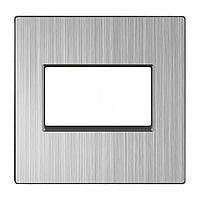 Накладка Werkel для двойной розетки Еthernet RJ-45 глянцевый никель WL02-RJ45+RJ45-CP 4690389119576