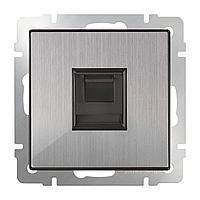 Розетка Werkel Ethernet RJ-45 WL02-RJ-45 глянцевый никель 4690389119620