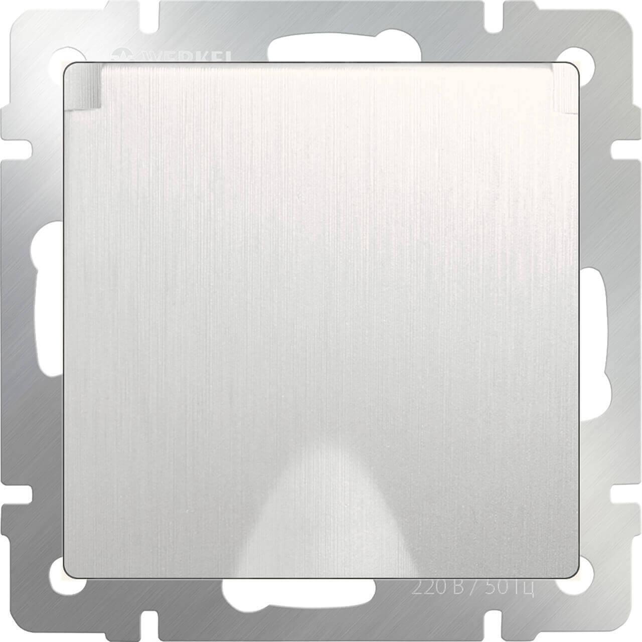 Розетка Werkel с заземлением, с защитной крышкой и шторками WL13-SKGSC-01-IP44 4690389124358