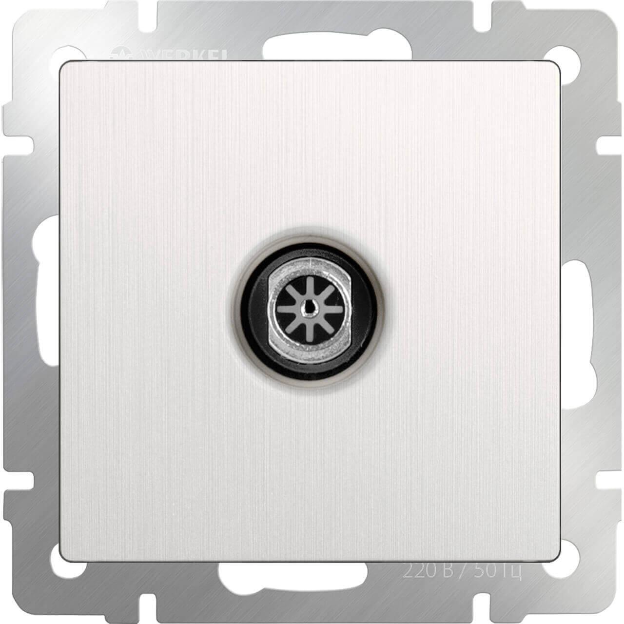 ТВ-розетка Werkel оконечная перламутровый рифленый WL13-TV 4690389124464