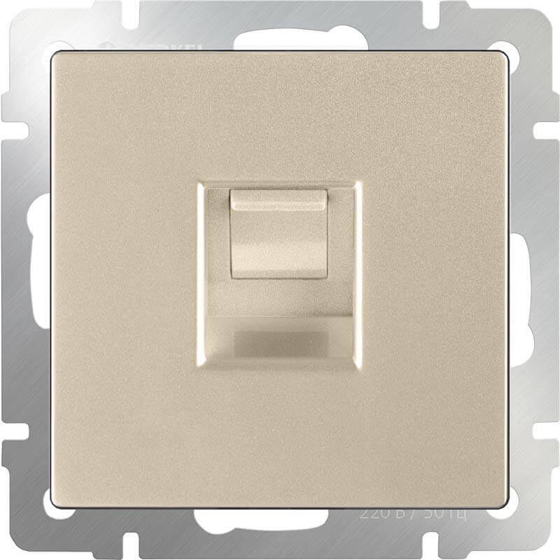 Розетка Werkel Ethernet RJ-45 шампань WL11-RJ-45 4690389124532