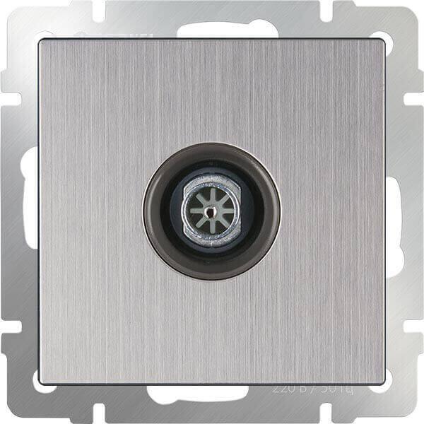 ТВ-розетка Werkel оконечная глянцевый никель WL02-TV 4690389119613