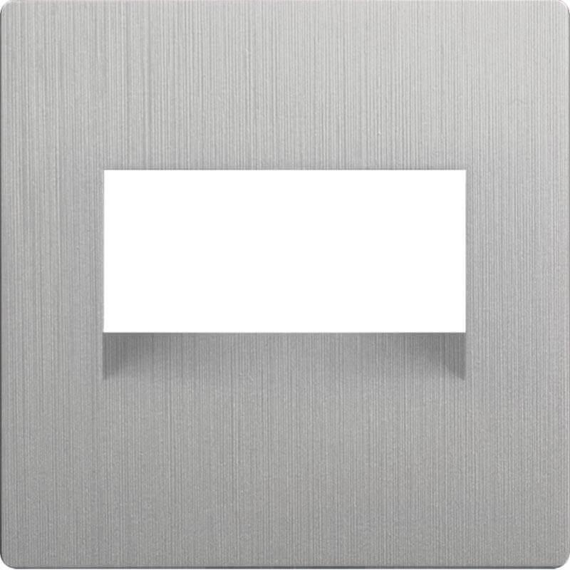 Накладка Werkel для двойной розетки Еthernet RJ-45 серебряный рифленый WL09-RJ45+RJ45-CP 4690389128325