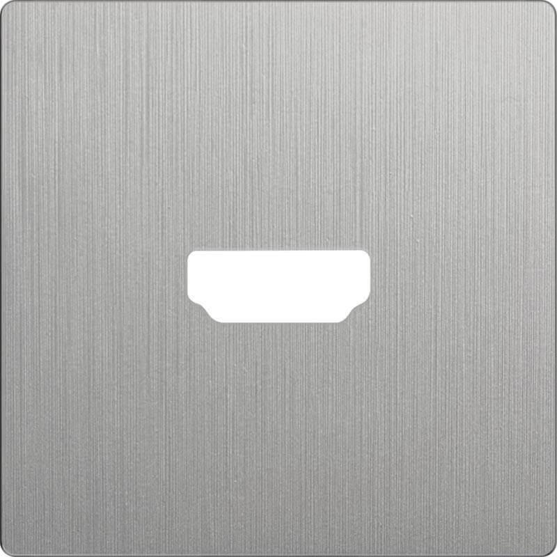 Накладка Werkel для розетки HDMI серебряный рифленый WL09-HDMI-CP 4690389128318