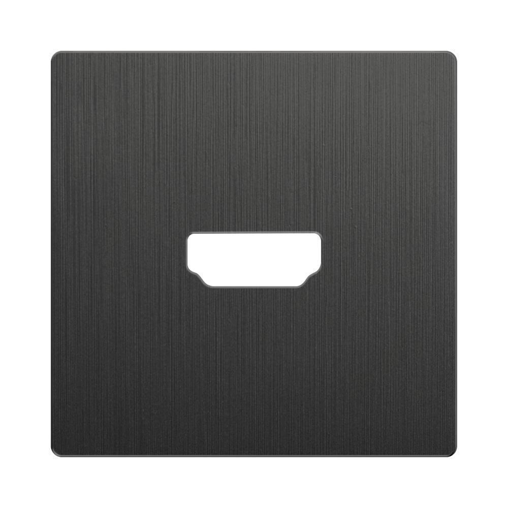 Накладка Werkel для розетки HDMI Графит рифленый WL04-HDMI-CP 4690389145919